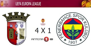 Video Gol Pertandingan Sporting Braga vs Fenerbahce