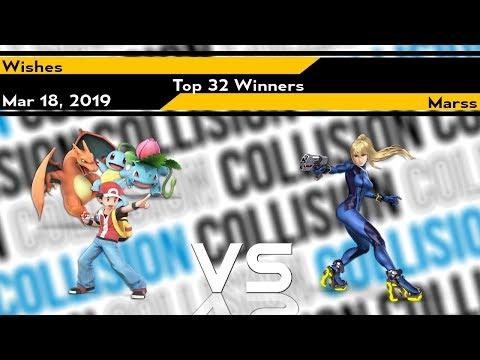 [Smash Ultimate] Collision 2019 (Top 32) - Marss (Zero Suit) vs Wishes (Pokemon Trainer) thumbnail