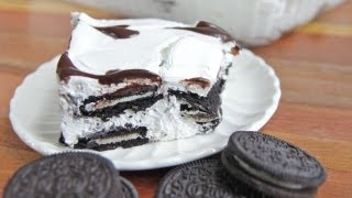 Isaac Makes Easy Oreo Ice Box Cake Recipe ~ Kid-approved!