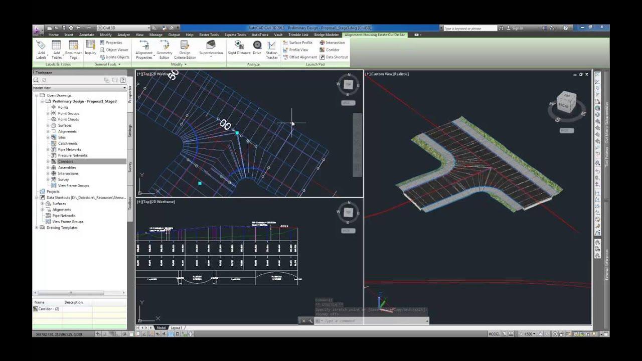 AutoCAD Civil 3D: Dynamic Junction Design