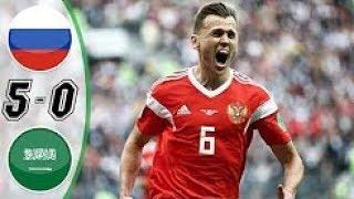 vuclip ملخص🔥مباراة السعودية و روسيا 0-5🔥دور المجموعات لكأس العالم 14-6-2018
