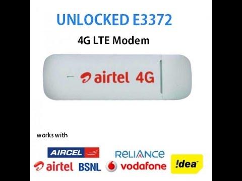 Unlock Huawei or Airtel E3372 4G LTE Data Card
