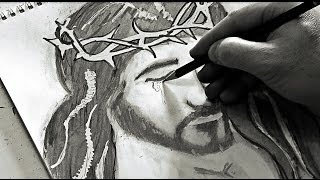 JESUS BLOODY TEARS - Awesome pencil sketch