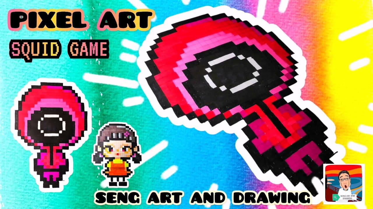 PIXEL ART SQUID GAME GUARD 🌟 鱿鱼游戏像素艺术 (2) 🌟 Seni Piksel Squid Game (2)