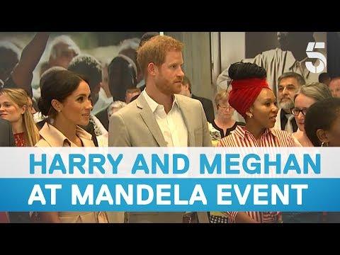 Prince Harry and Meghan Markle visit Nelson Mandela centenary exhibition - 5 News