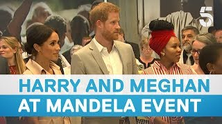 Prince Harry and Meghan Markle visit Nelson Mandela centenary exhibition | 5 News