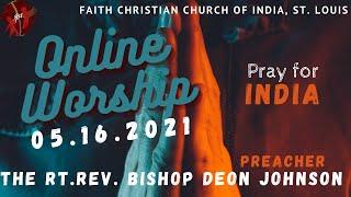 FCCIndia Online Worship 05/16/2021 | FCCI St. Louis