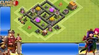 تصميم تاون هال 4 - Twn hall 4base Clash of clans