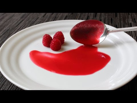 Fresh Raspberry Sauce Recipe - How To Make Fresh Raspberry Coulis - Valentine's Day Special