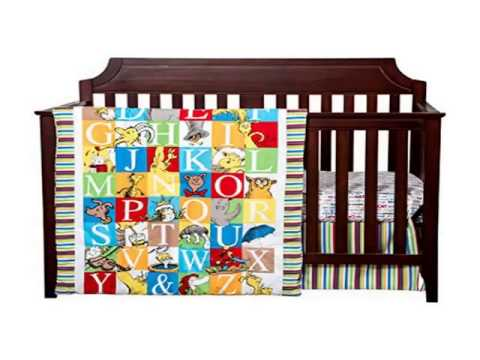 New Trend Lab Dr  Seuss Alphabet Seuss 3 Piece Crib Bedding Set Deal