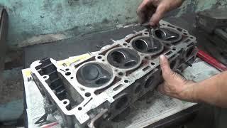 Сборка двигателя М 102 ГБЦ .