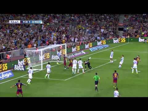Gol de Vermaelen (1-0) FC Barcelona - Málaga CF
