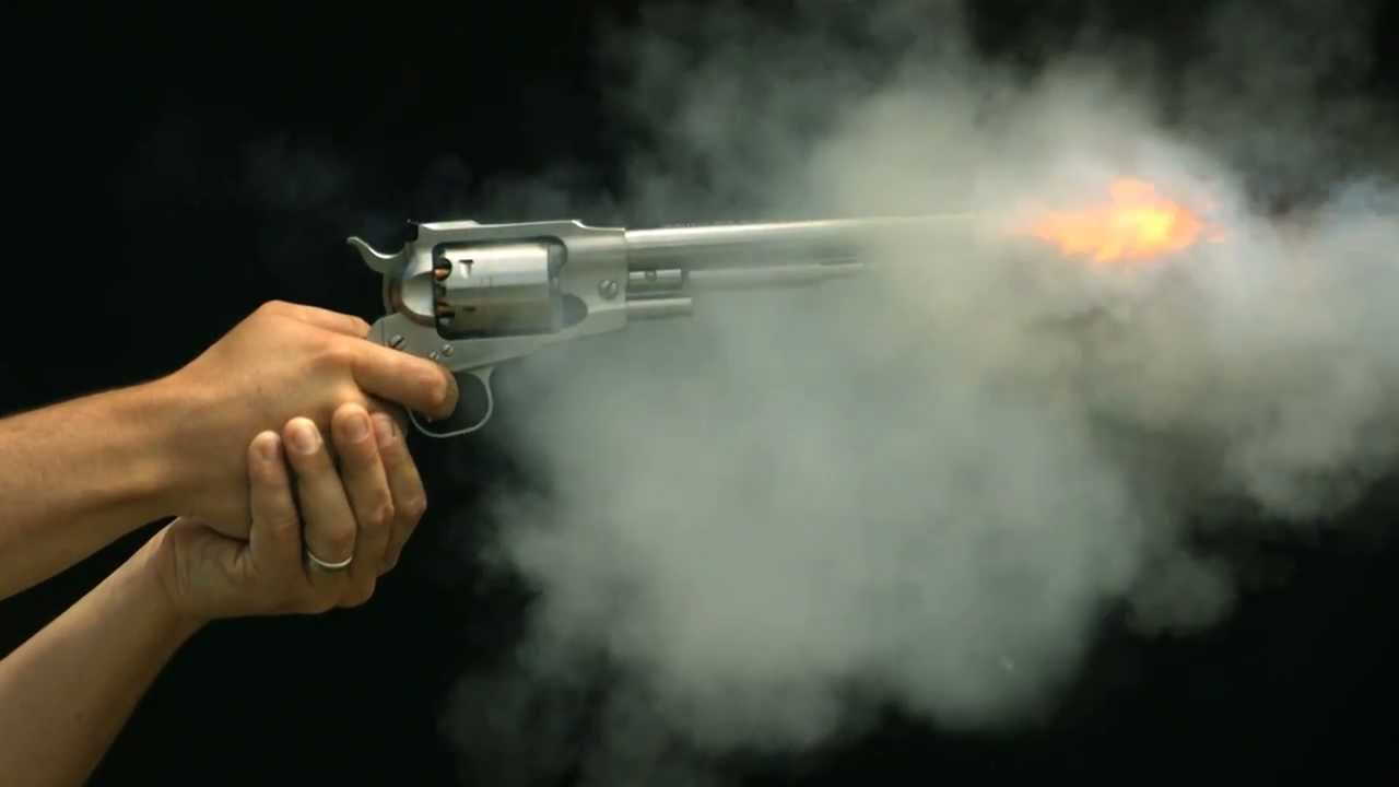 Gun Firing in Slow Motion HD a Revolver Shot in Slow Mo Views of ...