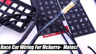 Race car wiring update Motec Keypad Milspec and more