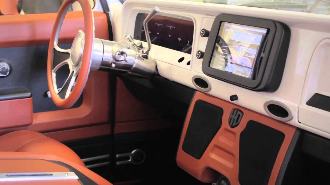 Custom Interior Design Interior hix design: custom '66 chevy truck interior - youtube