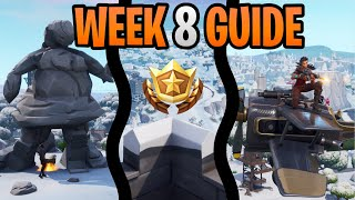 Fortnite Season 7 Week 8 Challenges Guide | Search Between Giant Rock Lady | Passengers Seat Damage