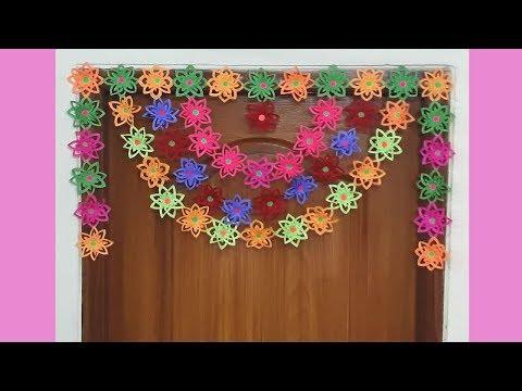 DIY | Paper Door Hanging | How to make Paper Toran | Siri Art&Craft |