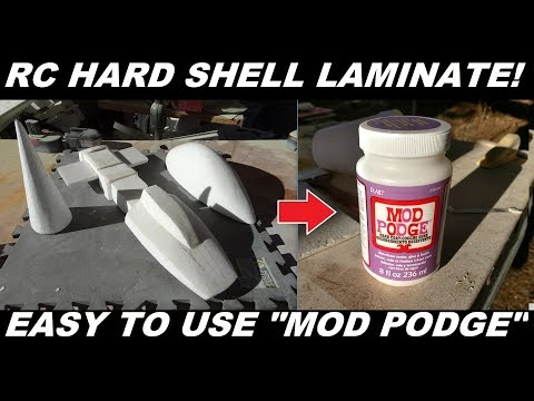RC Foam Airplane Laminate Hardener Mod Podge