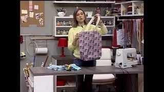 Como fazer uma bolsa de pano fácil e rápido