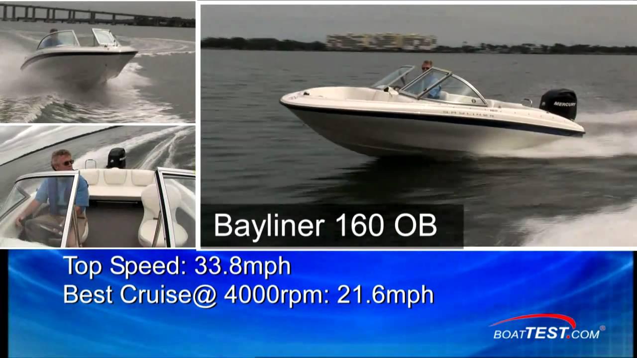 2011 Bayliner 160 OB Boat