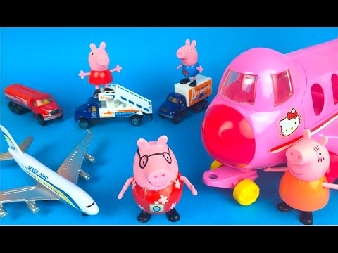 Day Out With Peppa Pig Train Part 4 of 6 🐽   Airport Visit Family Adventure 🐽🐽🐽