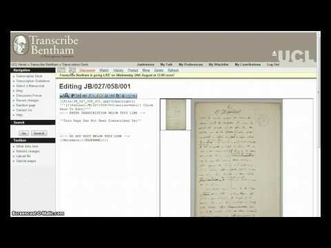 Transcribe Bentham: Getting Started