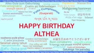Althea   Languages Idiomas - Happy Birthday
