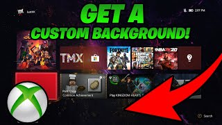 How To Get A CUSTOM BACKGROUND On Xbox One! (fast & easy method!)