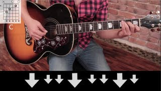 Tutorial en español de como tocar Use Somebody en Guitarra (acordes...