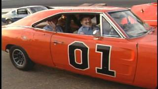 Enos and Cletus in the General Lee Dukes of Hazzard