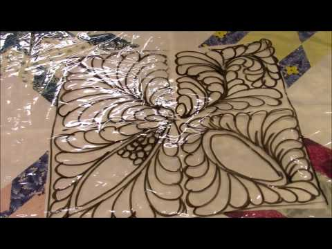 Designing Feathers in a Bethlehem Star Quilt - Part 1
