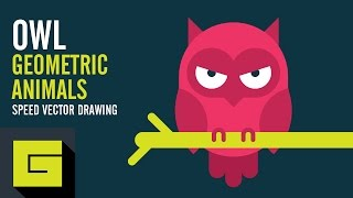 Speed Drawing, How to draw Owl, Adobe Illustrator