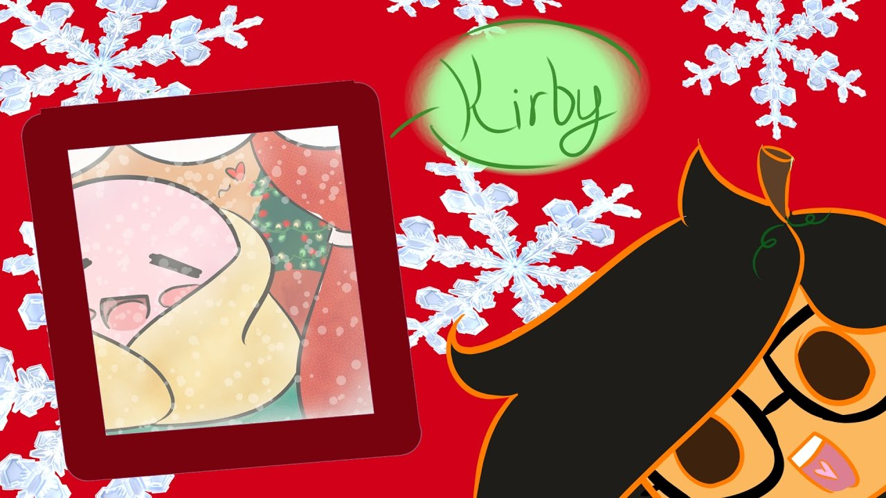 Kirby Christmas speed drawing (2nd day of Christmas) - YouTube
