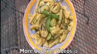 Pasta With Zucchini, Garlic, Basil.. Fast