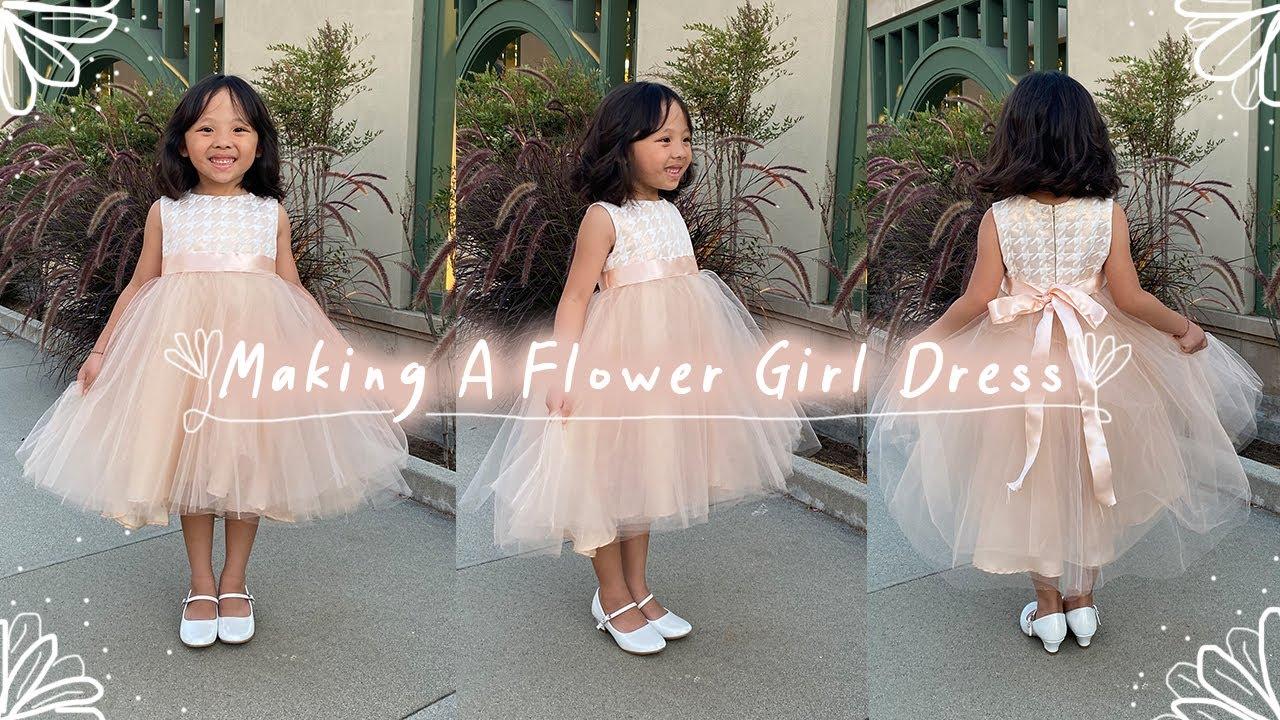 how to make a flower girl dress   diy formal kid's dress