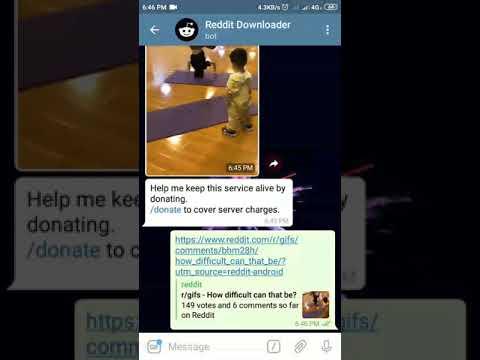 Download Reddit Gifs and Videos using Telegram Bot | @redditdl_bot