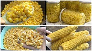 أسهل طريقة لحفظ الذرة تدوم سنوات بدون فريز -Conserve Corn