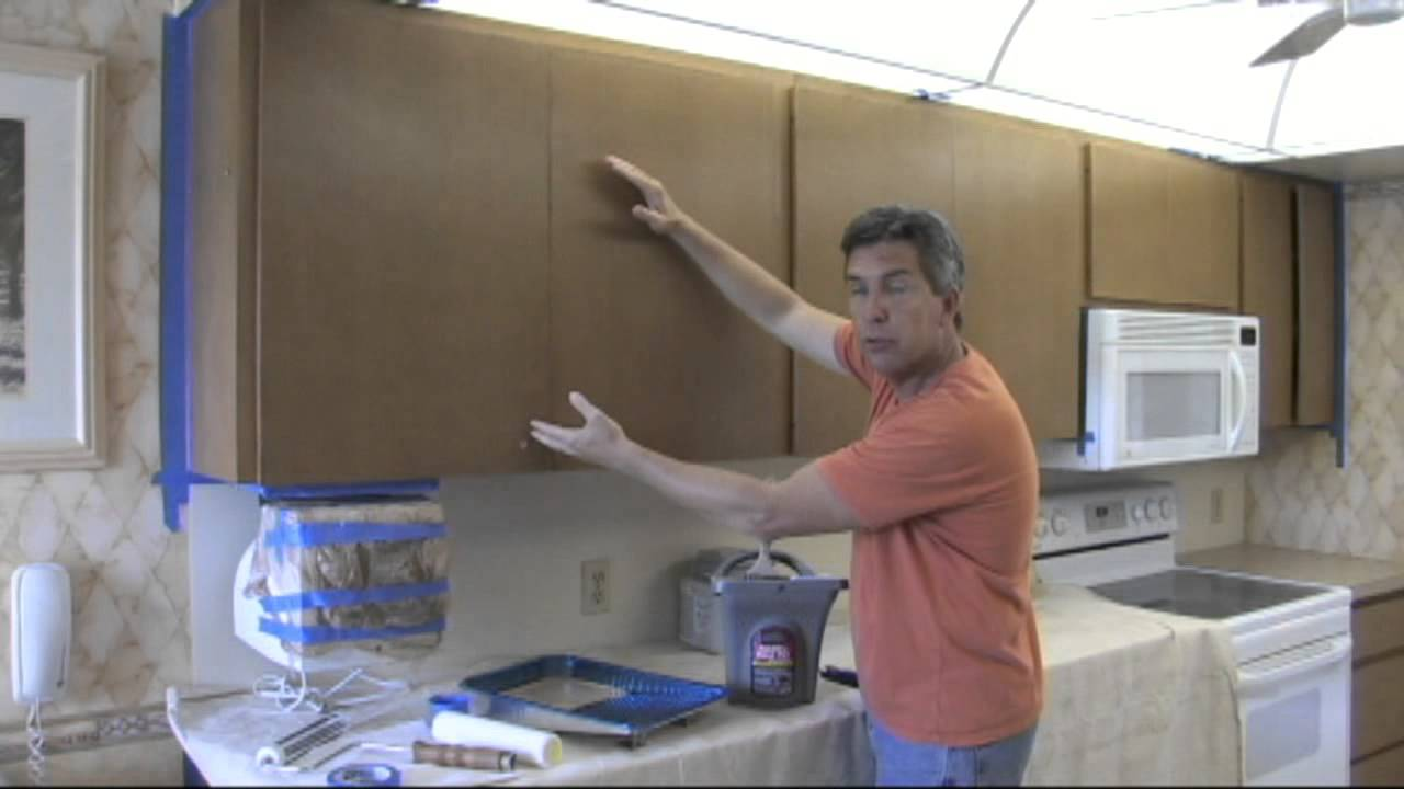 attractive What To Do With Old Kitchen Cabinets #7: How to paint your kitchen cabinets to look as good as new. - YouTube