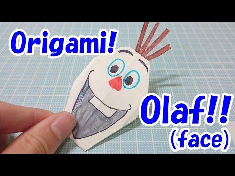 ハート 折り紙:折り紙 オラフの折り方-youtube.com