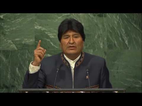 Evo Morales Ayma at the 10th anniversary of UN Declaration on Indigenous' rights