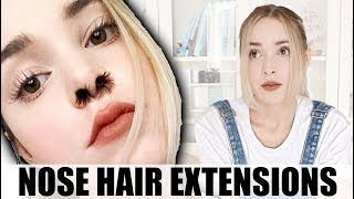 I Tried Nose Hair Extensions (Instagram Beauty Trends)