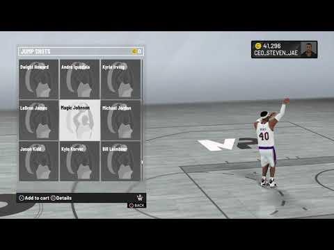 NBA 2K20 Magic Johnson Jump Shot