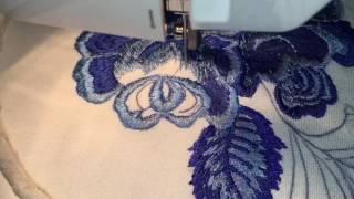 "Вышивка на швейной машинке в стиле ""ГЖЕЛЬ""☘️Sewing Machine Embroidery☘️Freihandsticken Nähmaschine"