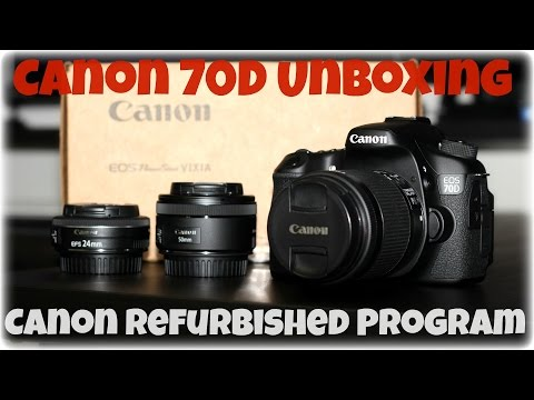 Canon 70D Unboxing - Canon Refurbished Program (How it works