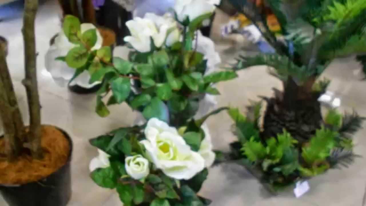 Искусственные цветы в горшках купить декоративные для интерьера .