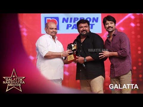 Gopinath winning PEOPLE'S VOICE   Galatta Nakshatra Awards