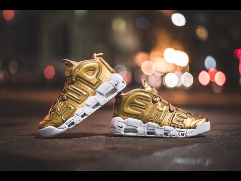 Review & On-Feet: Nike x Supreme Air More Uptempo Metallic Gold