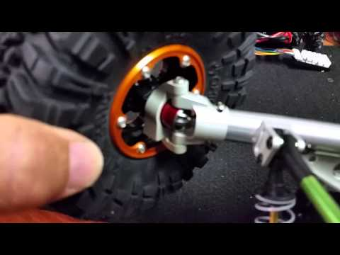 Axial Wraith with  Vanquish Currie rock jock axles