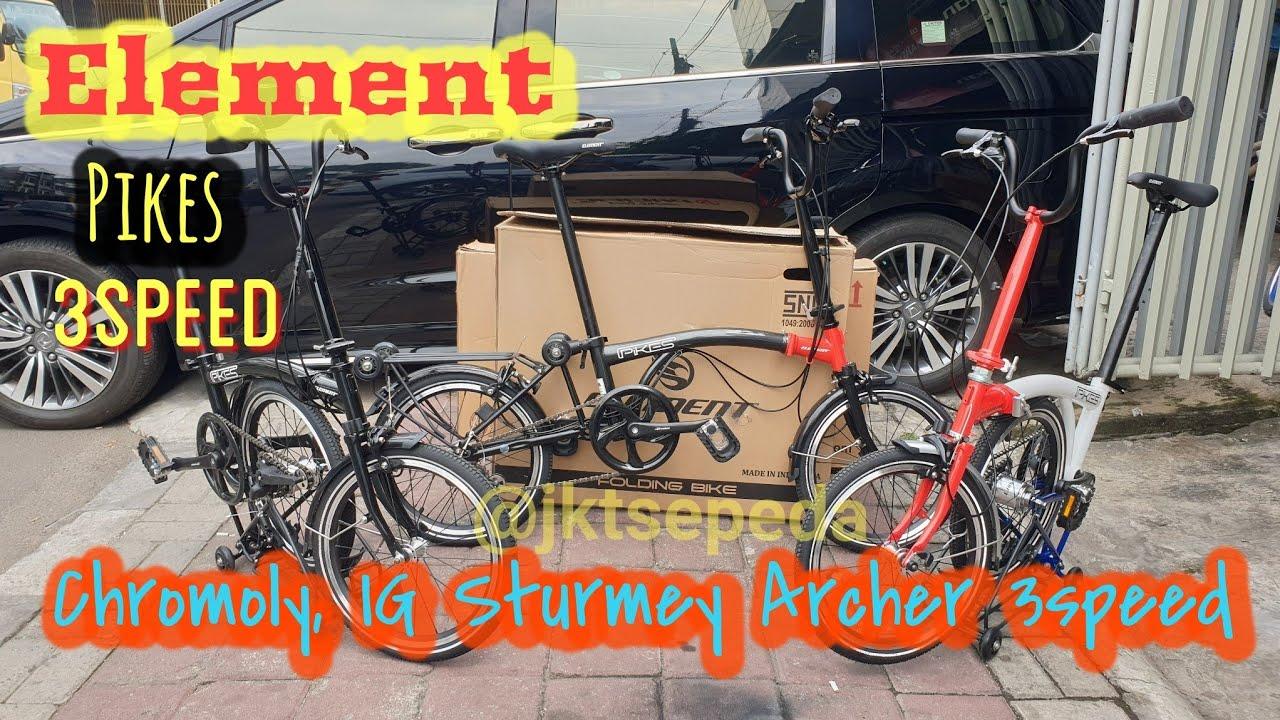 Foldingbike Element Pikes 3speed Model Trifold Brompton Youtube