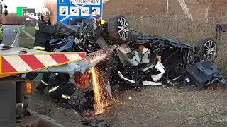 A mentőhelikopter kétszer fordult - szörnyű az M3-ason történt baleset helyszíne